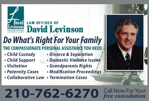 Exclusive Ad: Law Offices of David Levinson San Antonio 2108295033 Logo