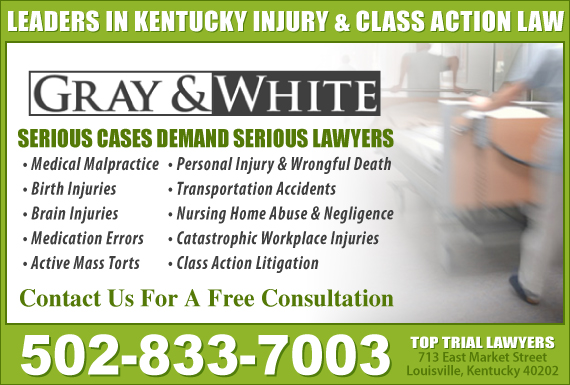 Exclusive Ad: Gray and White Law Louisville 5022108942 Logo