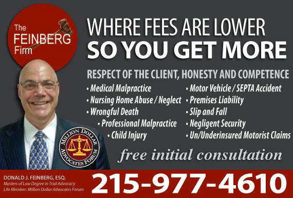 Exclusive Ad: The Feinberg Firm, P.C. Philadelphia 2155582567 Logo