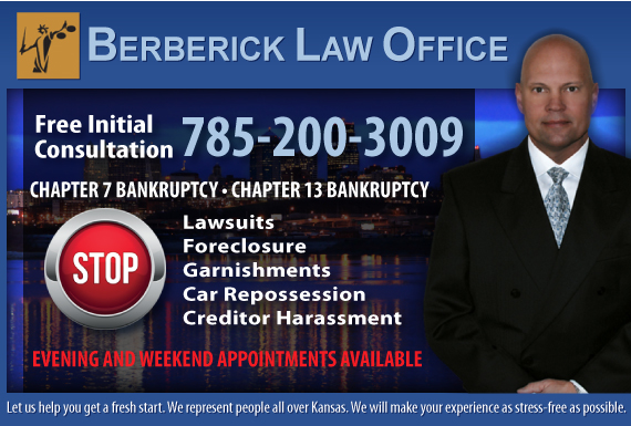 Exclusive Ad: Berberick Law Office Topeka 7852912121 Logo