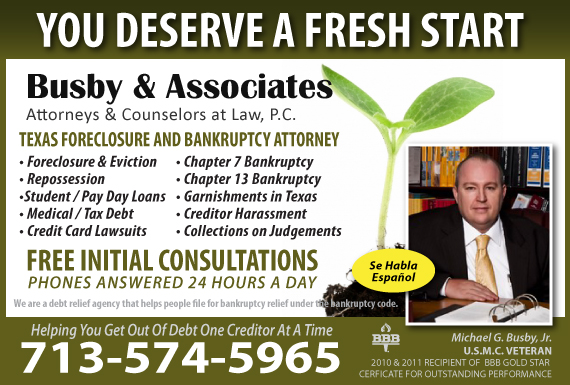 Exclusive Ad: Bankruptcy   Houston 7139741151 Logo