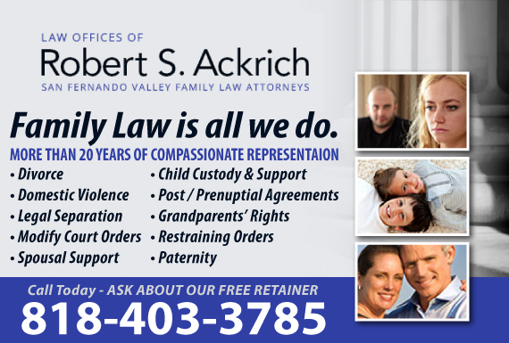 Exclusive Ad: Law Offices of Robert S. Ackrich Sherman Oaks 8188080685 Logo
