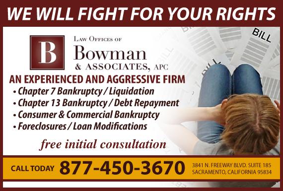Exclusive Ad: Bankruptcy  Sacramento 9169232800 Logo