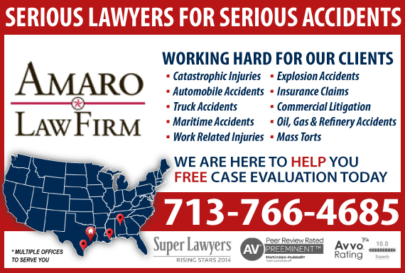 Exclusive Ad: Amaro Law Firm Houston 7138641941 Logo