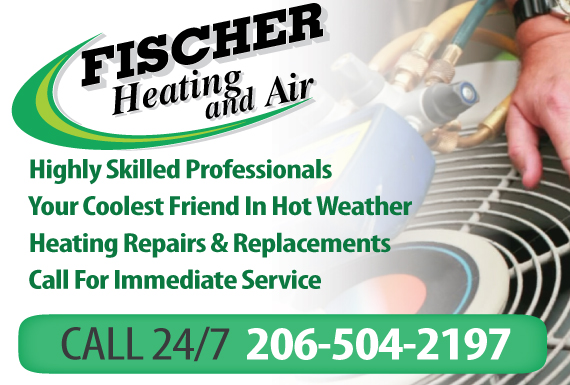 Exclusive Ad: Fischer Heating and Air Mountlake Terrace 2063372141 Logo