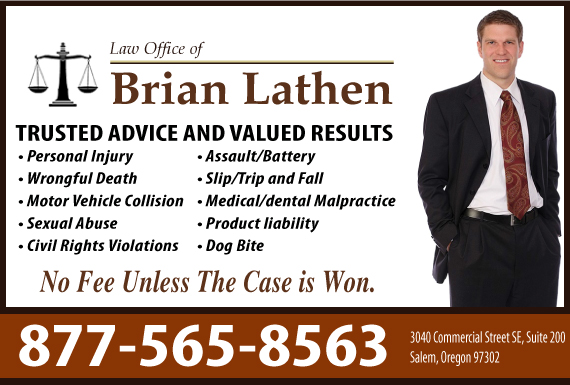 Exclusive Ad: Law Office of Brian Lathen  Salem 5039494491 Logo