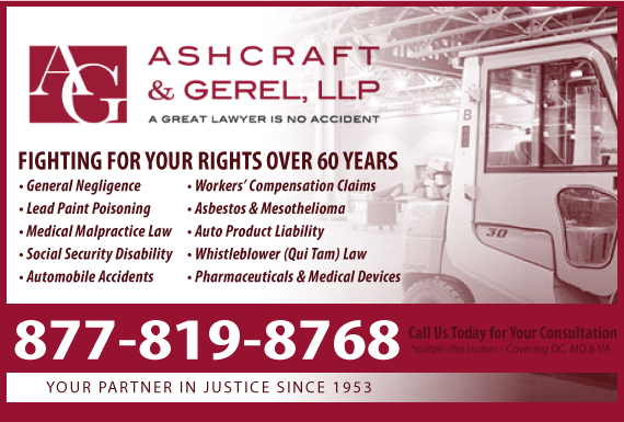 Exclusive Ad: Ashcraft & Gerel LLP - Workers Comp  Washington 2027836400 Logo