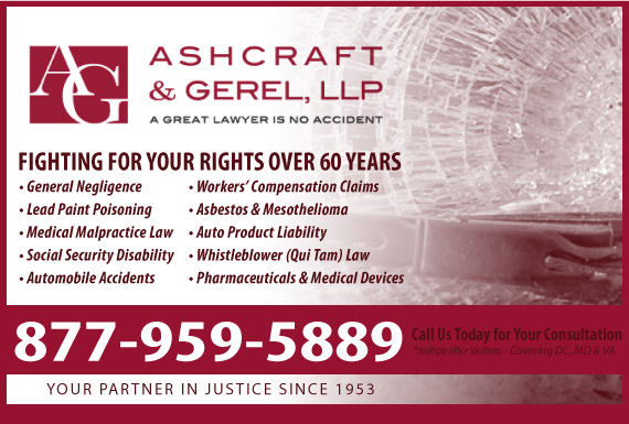 Exclusive Ad: Ashcraft & Gerel LLP - Personal Injury  Washington 2027836400 Logo