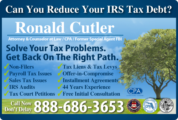 Exclusive Ad: Ronald Cutler, Attorney & Counselor at Law Winter Park 3867884480 Logo
