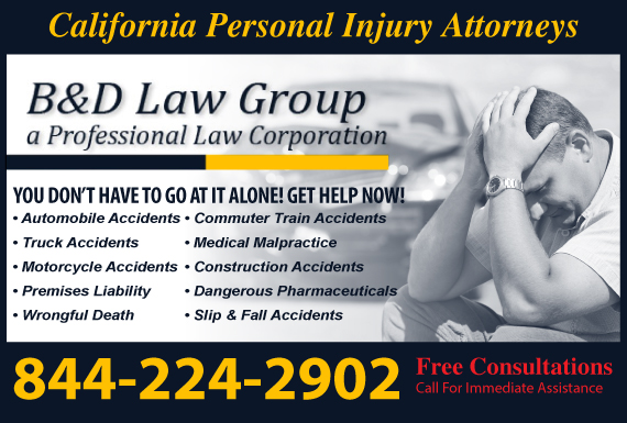 Exclusive Ad: B&D Injury Law Group APLC Los Angeles 3109624447 Logo