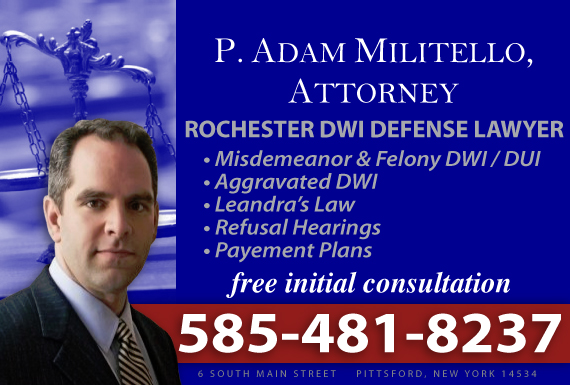 Exclusive Ad: DUI Pittsford 5854850025 Logo
