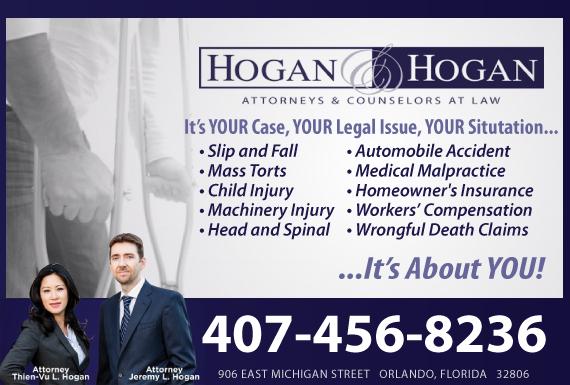 Exclusive Ad: Hogan & Hogan, P.A.     Orlando 4074222188 Logo