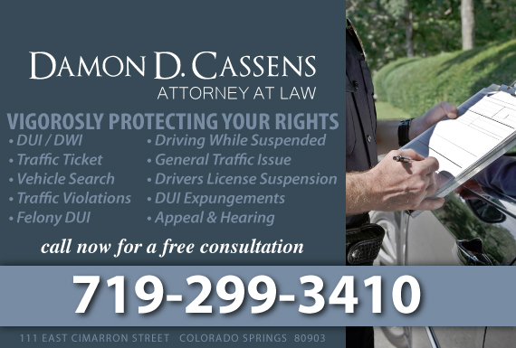 Exclusive Ad: Traffic Law Colorado Springs 7194478972 Logo