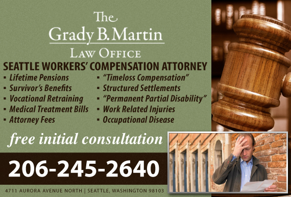 Exclusive Ad: The Grady B. Martin Law Office Seattle 2064521261 Logo