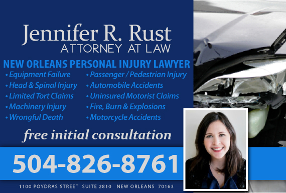 Exclusive Ad: Jennifer R. Rust, Attorney at Law New Orleans 5042391868 Logo