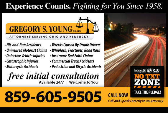 Exclusive Ad: Gregory S. Young Car Accidents Cincinnati 5139244110 Logo