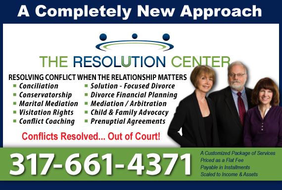 Exclusive Ad: The Resolution Center LLC Zionsville 3173999740 Logo
