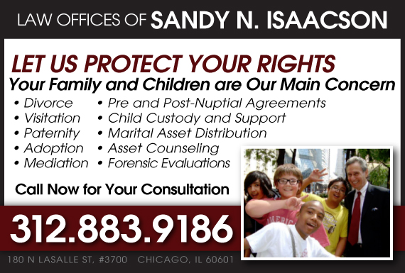 Exclusive Ad: Law Offices Of Sandy N. Isaacson Chicago 3122550007 Logo