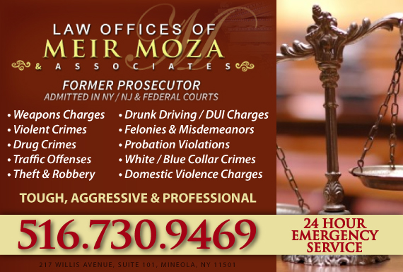 Exclusive Ad: Law Office of Meir Moza & Associates Mineola 5167410003 Logo