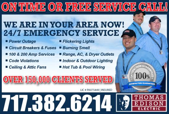 Exclusive Ad: Thomas Edison - Juniata County Mifflintown 2675364668 Logo