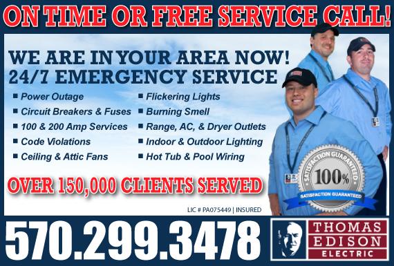 Exclusive Ad: Thomas Edison - Luzerne Wilkes Barre 2675364668 Logo