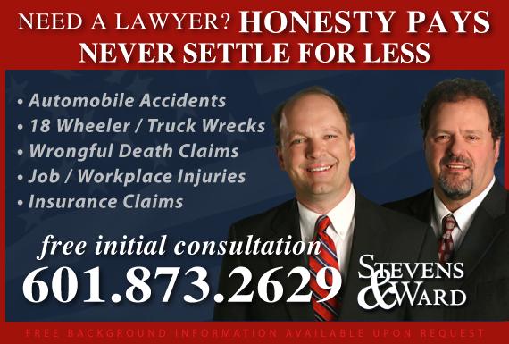 Exclusive Ad: Stevens & Ward  Jackson 6013667777 Logo