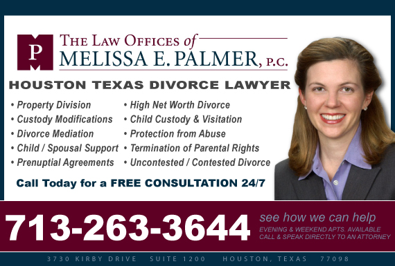 Exclusive Ad: The Law Offices of Melissa E. Palmer, P.C. Houston 7132186900 Logo