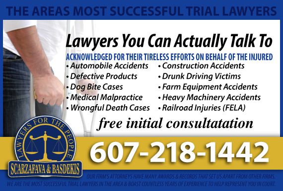 Exclusive Ad: Scarzafava & Basdekis Law Firm Oneonta 6074329341 Logo