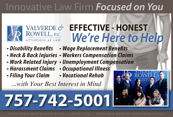 Exclusive Ad: Worker's Comp Virginia Beach 7574228472 Logo