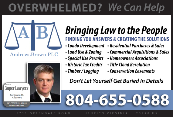 Exclusive Ad: Andrews Brown PLC Henrico 8049182091 Logo