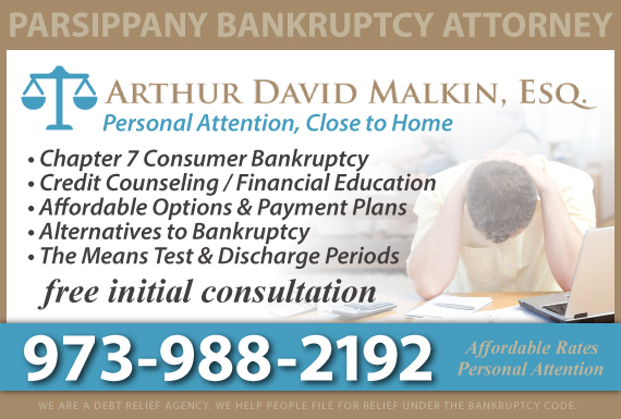 Exclusive Ad: Bankruptcy Parsippany 9735411500 Logo
