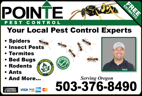 Exclusive Ad: Pointe Pest Control- R2 Albany 5095904200 Logo
