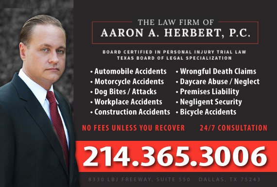 Exclusive Ad: Personal Injury/Car Accidents/Wrongful Death  Dallas 2143486723 Logo