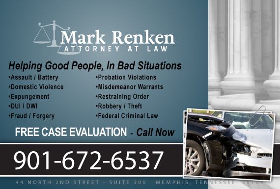 Exclusive Ad: Mark Renken Criminal/DUI Memphis 9014849932 Logo