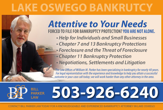 Exclusive Ad: Bill Parker Law Lake Oswego 5036754315 Logo