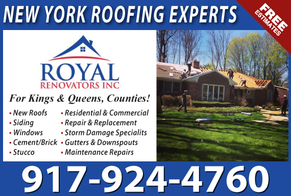 Exclusive Ad: Royal Renovators Roofing Forest Hills 9175618816 Logo