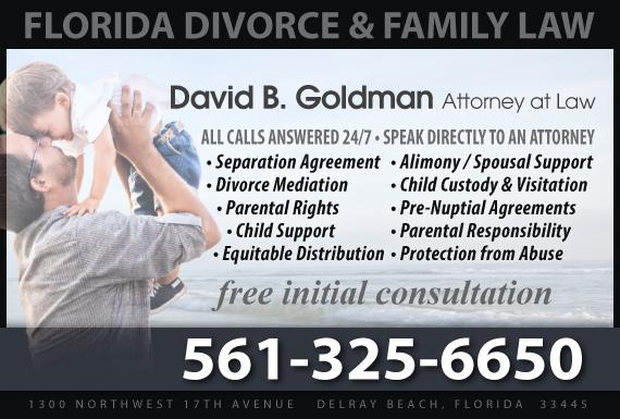Exclusive Ad: David B. Goldman, Attorney at Law Delray Beach 5612747550 Logo