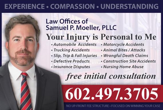Exclusive Ad: Law Offices of Samuel P. Moeller Phoenix 6023748009 Logo