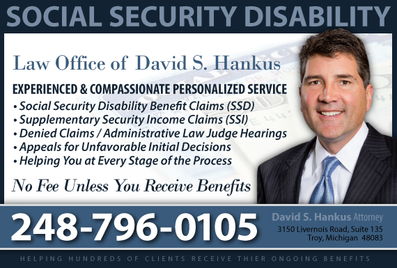 Exclusive Ad: Law Office of David S. Hankus Troy 2482443900 Logo