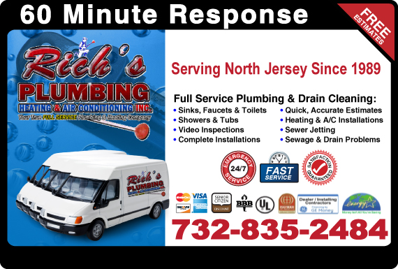 Exclusive Ad: Rich's Plumbing, Heating & Air Conditioning Elizabeth 8882512381 Logo