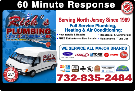 Exclusive Ad: Rich's Plumbing, Heating & Air Conditioning Toms River  Logo