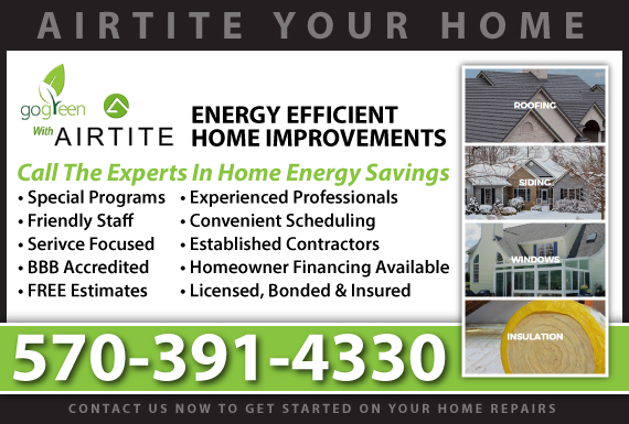 Exclusive Ad: Airtite Home Systems, LLC Scranton 7186849816 Logo