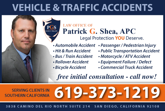 Exclusive Ad: Law Office of Patrick G. Shea, APC San Diego 6199713139 Logo
