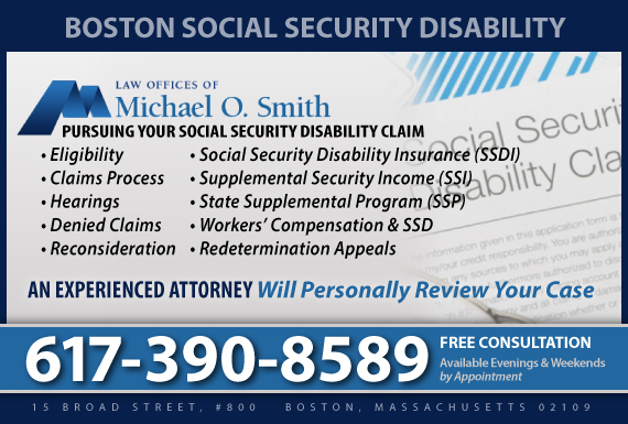 Exclusive Ad: Social Security Disability  Boston 7817892570 Logo