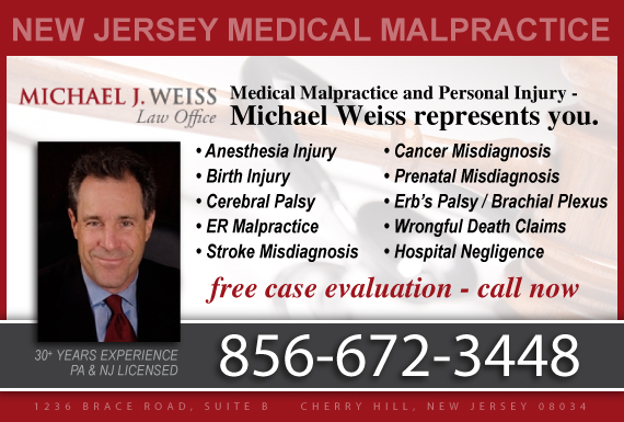 Exclusive Ad: Michael J Weiss Law Office Cherry Hill 8564281236 Logo