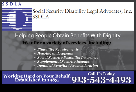 Exclusive Ad: Social Security Disability Legal Advocates, Inc.  Mission 9132626555 Logo