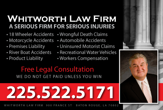 Exclusive Ad: Whitworth Law Firm Baton Rouge 2253761075 Logo