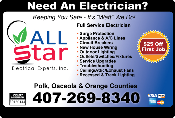 Exclusive Ad: Allstar Electrical Experts Inc. - Orlando Orlando 8134444280 Logo