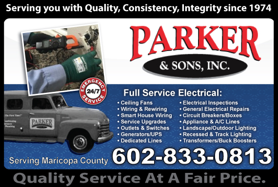 Exclusive Ad: Parker & Sons, Inc. Phoenix 6022737247 Logo