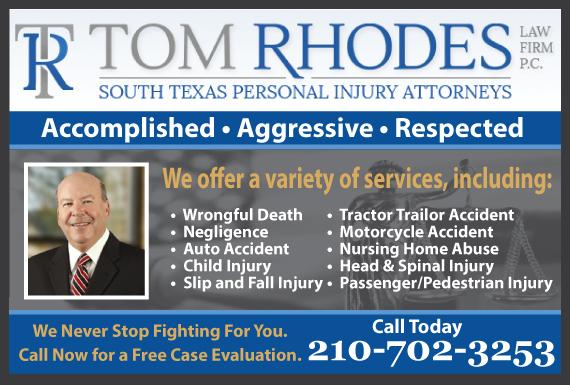 Exclusive Ad: Tom Rhodes TX San Antonio 2102255251 Logo